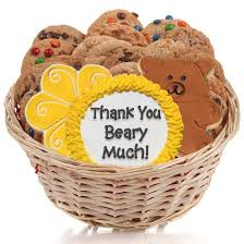 cookie gift basket thank you beary much cookie gift basket aa gifts baskets