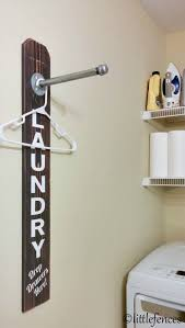 clothing rack pipe rack industrial decor laundry room