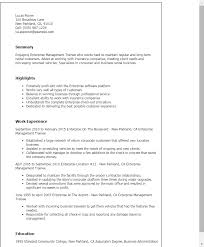 Excellent Examples Of Resumes by Professional Enterprise Management Trainee Templates To Showcase