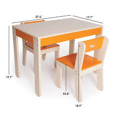 Childrens Desk Accessories by Amazon Com P U0027kolino Little One U0027s Table And Chairs Orange Baby