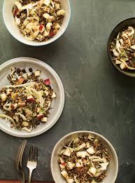 cuisine sauvage recettes salade de riz sauvage pommes fenouil ricardo