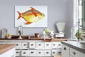toile deco cuisine toile déco cuisine poisson lune izoa