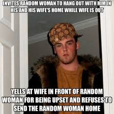 Divorce Guy Meme - random lady stayed till am i need to help my cousin find a good