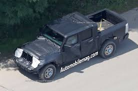 jeep truck 2 door jeep wrangler pickup caught testing in new photos automobile