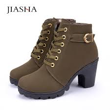 womens boots europe autumn winter boots high quality solid lace up european