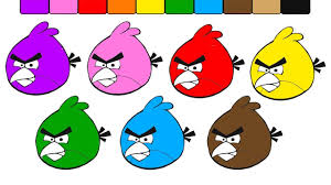 angry birds coloring pages for learning colors angry birds