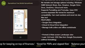Windows Spreadsheet Ispreadsheet Free Mobile Spreadsheet Iphone U0026 Ipad Review Youtube