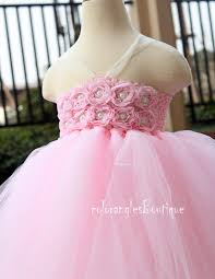 pink tutu dress flower dress baby dress toddler birthday