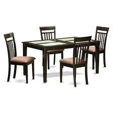 4 Dining Room Chairs Glass Top Dining Table Set 4 Chairs
