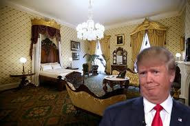 trump has white house staff fit lincoln bedroom with rubber sheets