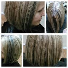 blonde streaks for greying hair 2 color blonde highlight on gray hair did not cover base added 2