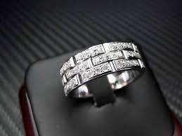 gold diamond wedding band crafted 14k white gold mens diamond wedding band engagement