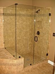 glass shower door half wall frameless shower clips vs u channel the glass shoppe a division