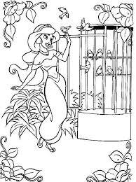 8 dessins de coloriage Princesse Jasmine à imprimer