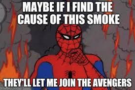 60s spiderman fire imgflip