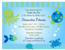 the sea baby shower invitation printable digital