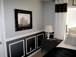 bedroom chair rail ideas grey and black two toned colors