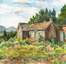 Painting Of House by Stone House Paintings Fine Art America