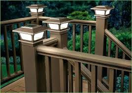 solar powered deck post lights solar lights for deck posts and outdoor deck post lights lighting