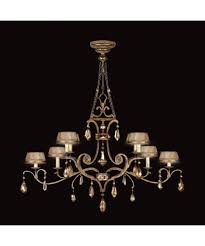 Unique Chandelier Lighting Fine Art Lamps 755440 Golden Aura 63 Inch Wide 8 Light Chandelier