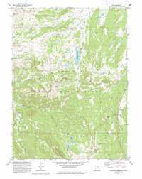 Utah Maps by Whitney Reservoir Topographic Map Ut Usgs Topo Quad 40110g8