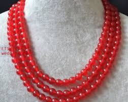 red fashion necklace images Red beaded necklace etsy jpg