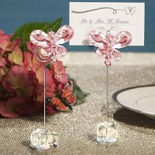 table top place card holders wedding favor butterfly place card holders crystal stainelss steel