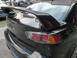 mitsubishi evo spoiler oem style carbon fiber rear spoiler for 2008 2015 mitsubishi lancer