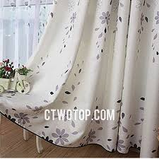 Grey White Curtains Best Discount White And Gray Flowers Floral Burlap Curtains