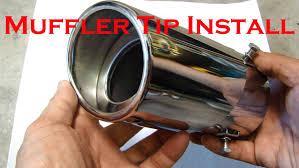 nissan versa muffler cost install stainless steel chrome muffler tip youtube