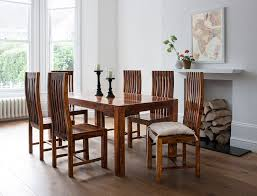 indian wood dining table 7 piece solid wood dining set casa bella sheesham indian furniture