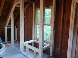 framing closets and window seat with kneeling walls mary u0027s room