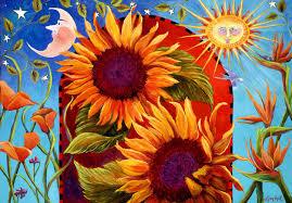 sunflower artcelestial art sunflower prints