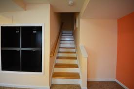finishing basement stairs ideas amys office within basement