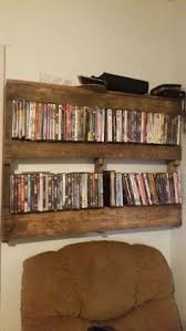 the dvd rack my husband made us pallet dvd racks pinterest
