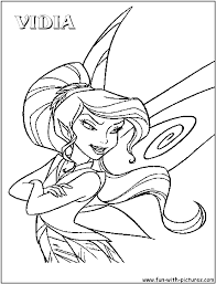 vidia tinkerbell coloring character colouring pages