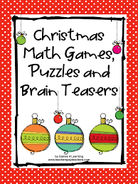 christmas math games puzzles and brain teasers from games 4