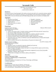 security guard resume armed security guard resume exles cover letter officer sles