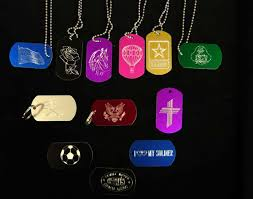 Engravable Dog Tags Engraved Name Badges Signs Pet Tags Personalized Military
