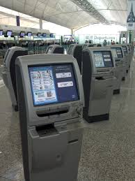file self check in kiosks at the hong kong international airport