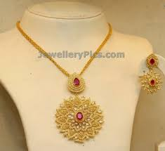 light weight gold necklace designs light weight gold necklace with uncut diamonds pendent latest