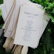 wedding programs rustic rustic wedding programs