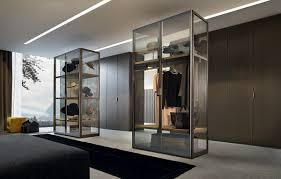 decorations glass walk in closet idea with tempered glass door