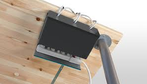 Desk With Cable Management by Amazon Com Quirky Plug Hub Under Desk Power Cord Management
