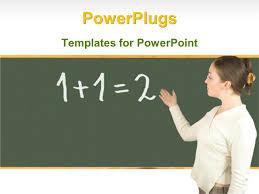powerpoint template a teacher in a classroom teaching maths 10580
