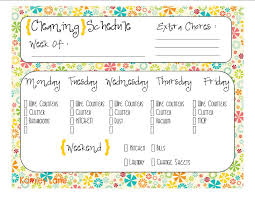cleaning schedule free printable prints pinterest cleaning