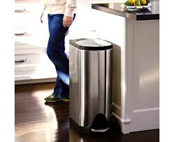 Kitchen Garbage Can With Lid by Kitchen Surprising Kitchen Trash Cans Waste Baskets Gallon Can
