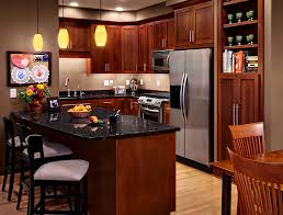 Cherry Kitchen Cabinets Rockford Door Style CliqStudios - Kitchen with cherry cabinets