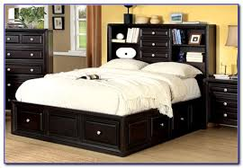 latest queen storage bed with bookcase headboard size plans ideas