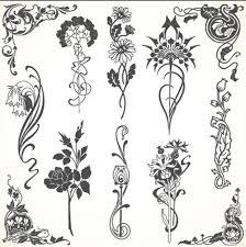 vintage flowers ornaments material vectors vector flower vector